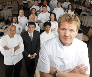 Gordon Ramsay, leading the troops