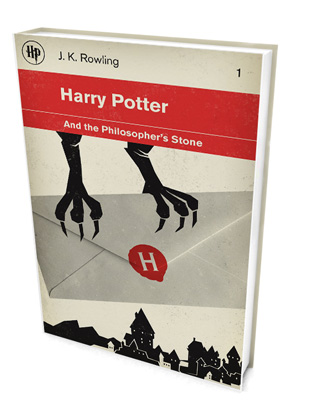Minimalist Harry Potter covers