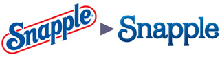 Snapple's old logo and their new one