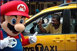 Mario and a Cab driver