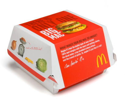 New Big Mac Packaging