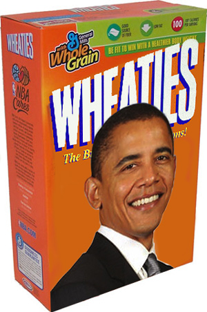 Obama's face on a bunch of crap