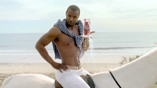 Old Spice Guy, on a horse