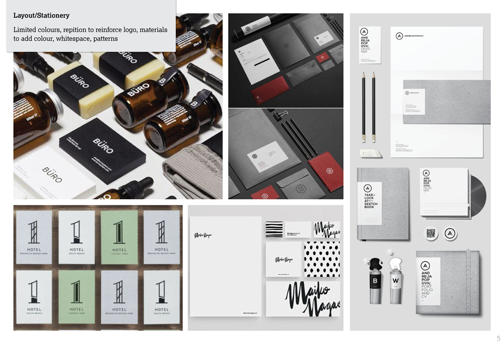 R. Joshua Whitton brand identity - visual research & mood boards