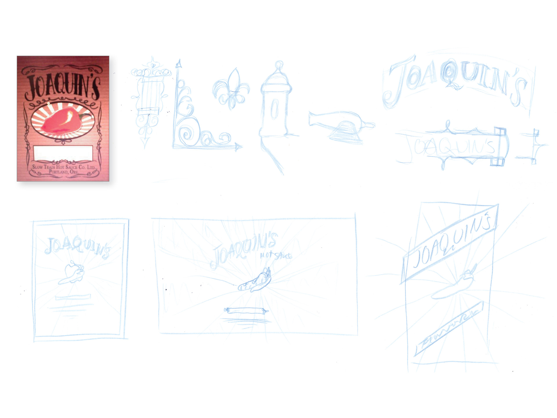 Joaquin's packaging development sketches
