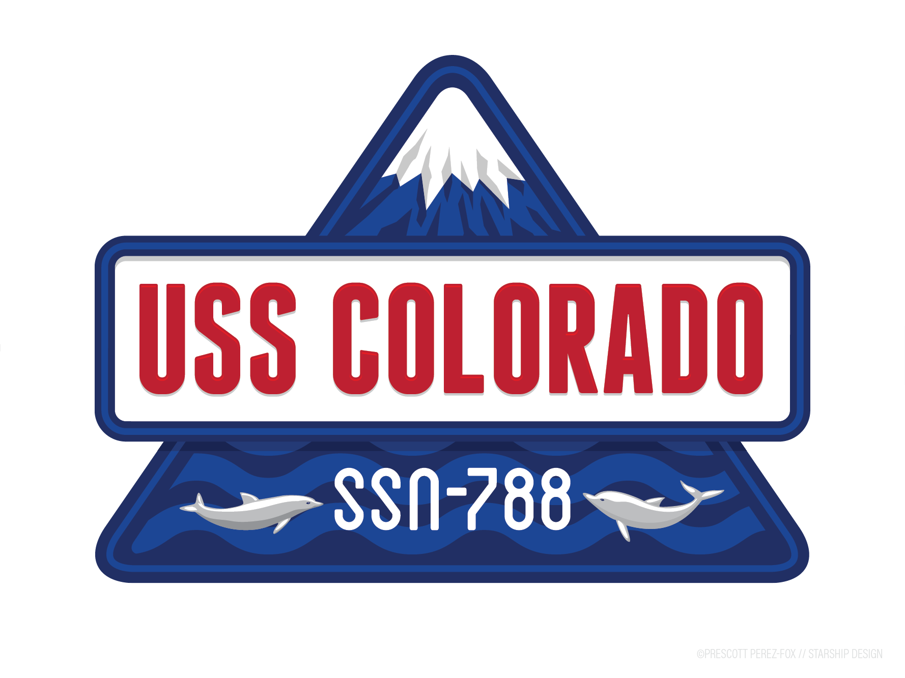 USS Colorado — crest 2, full-colour