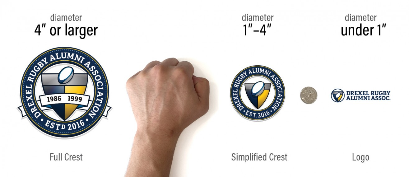 Drexel Rugby Alumni Association - sizing guide