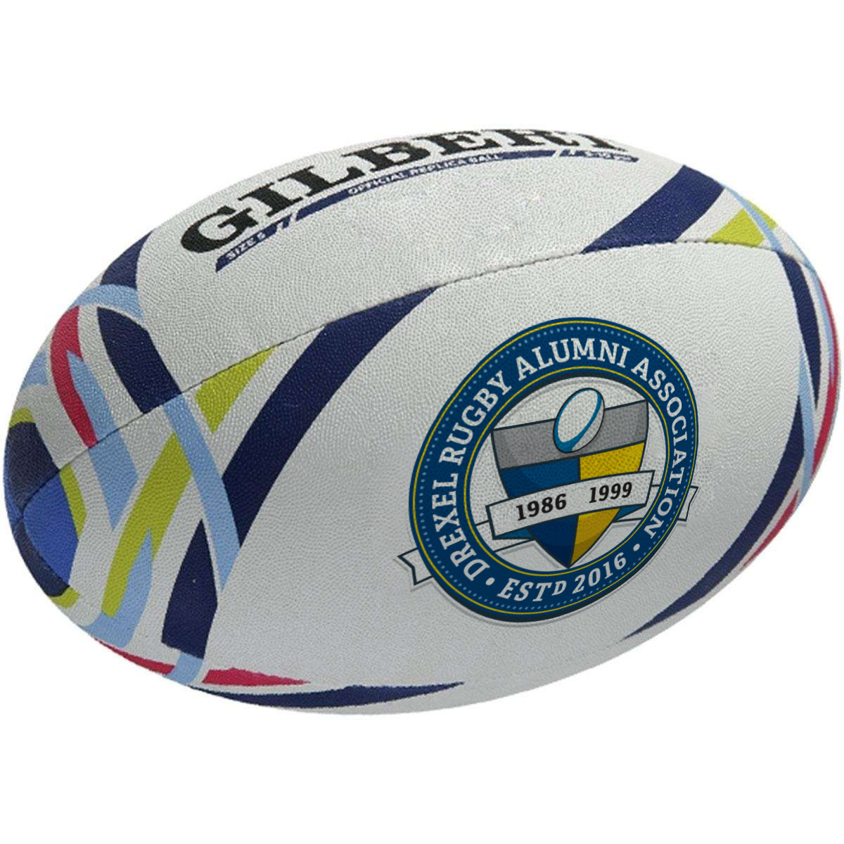 DRAA Full crest on rugby ball
