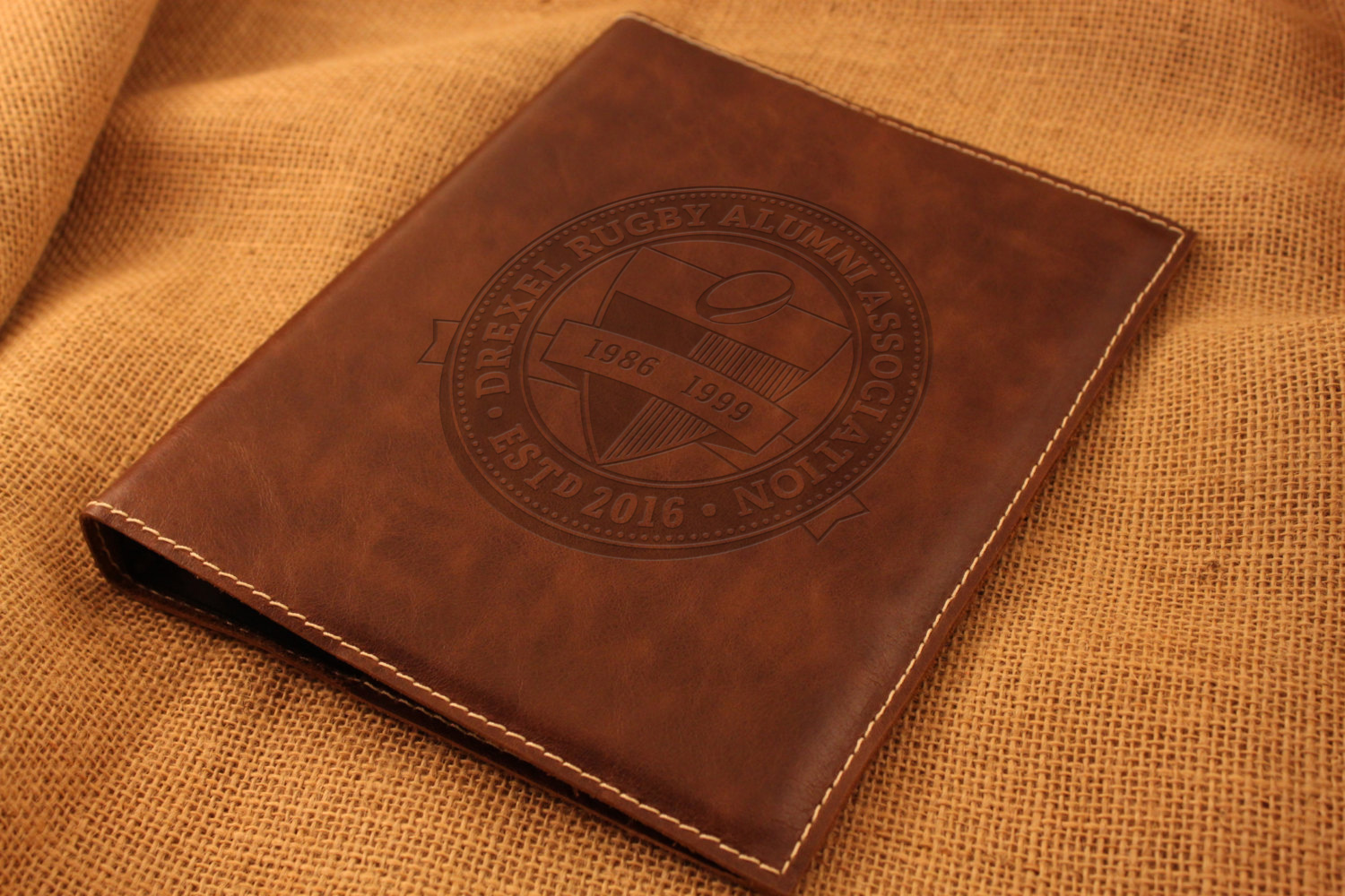 DRAA Full crest on leather folder