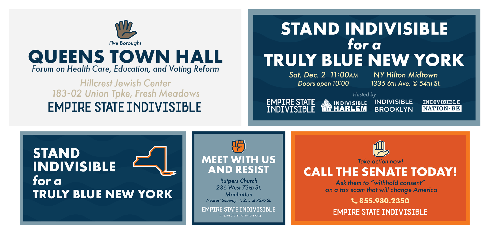 Empire State Indivisible social media
