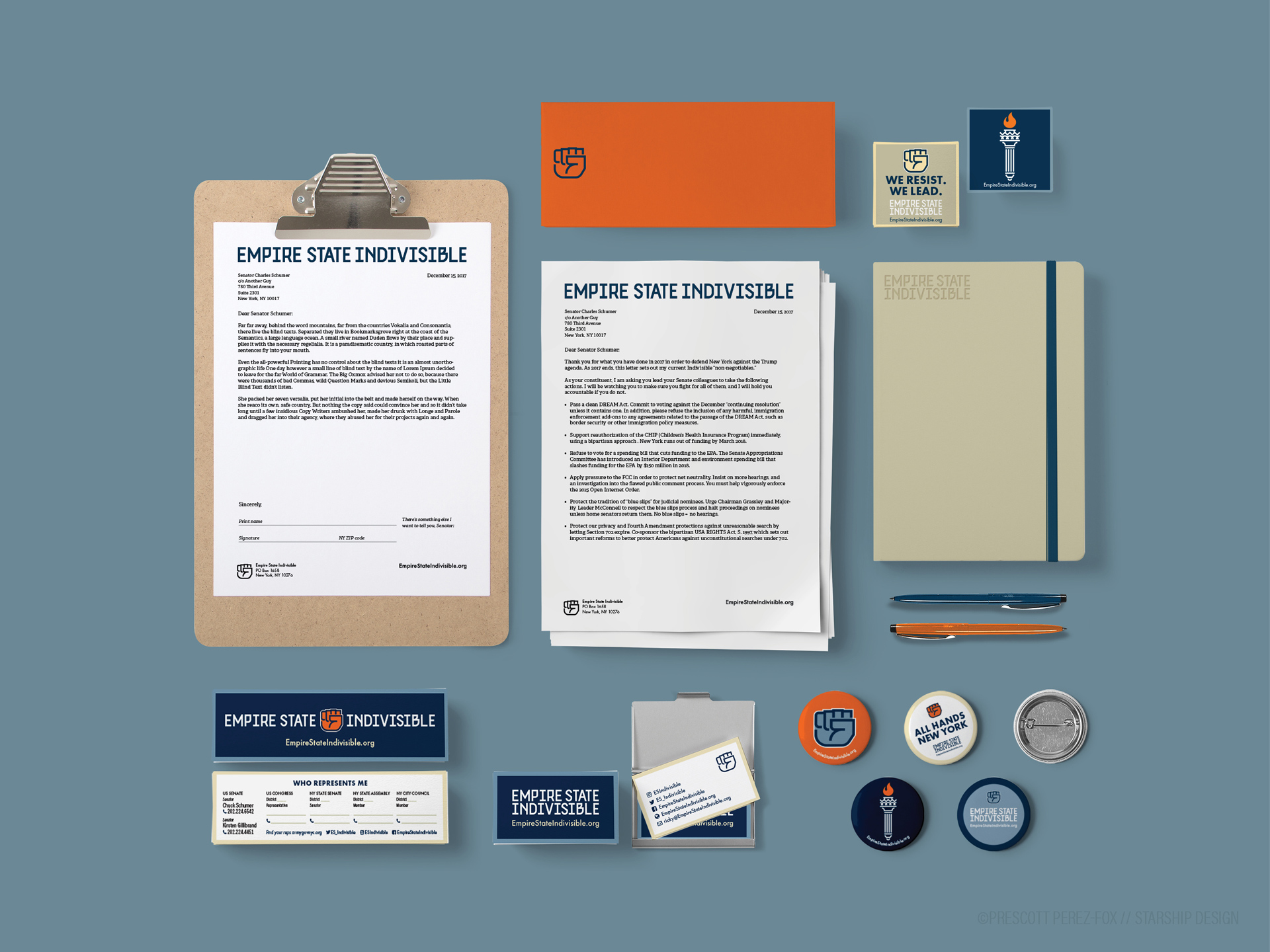 Empire State Indivisible stationery