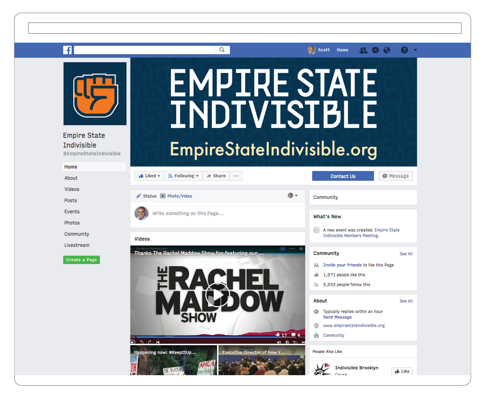 Empire State Indivisible Facebook