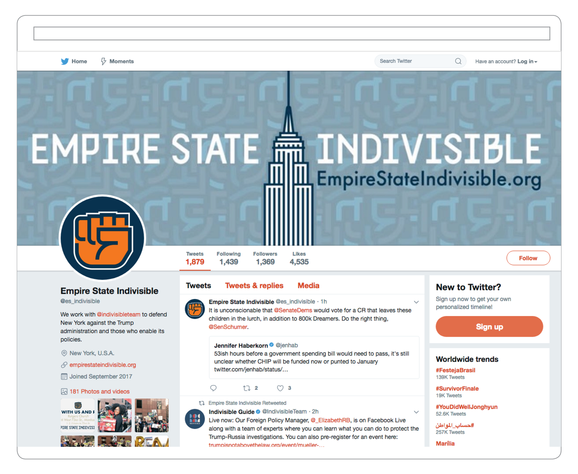 Empire State Indivisible Twitter