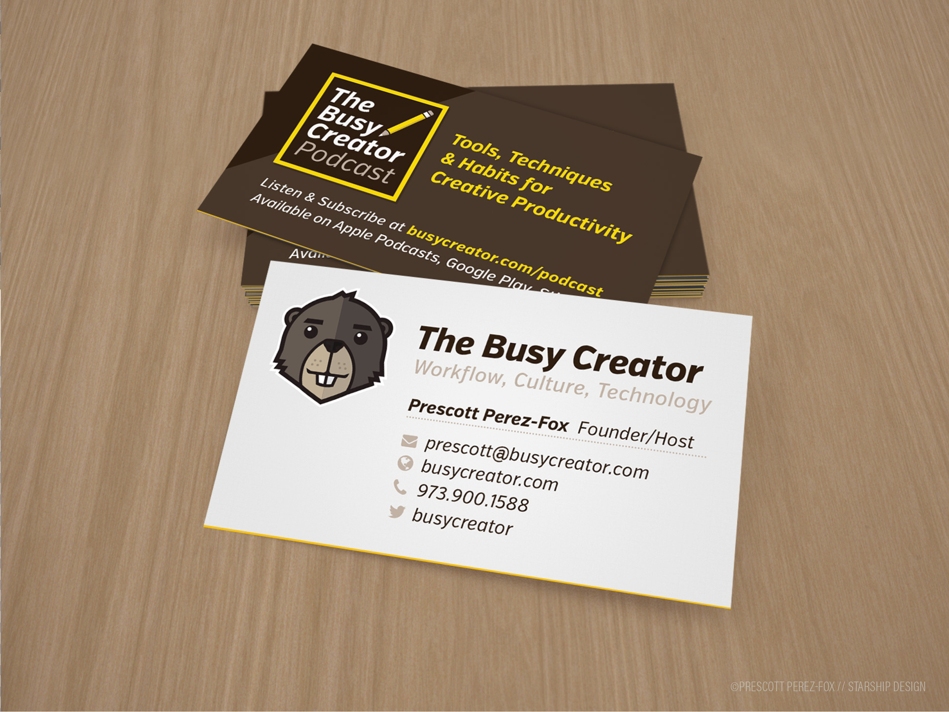 The Busy Creator business cards