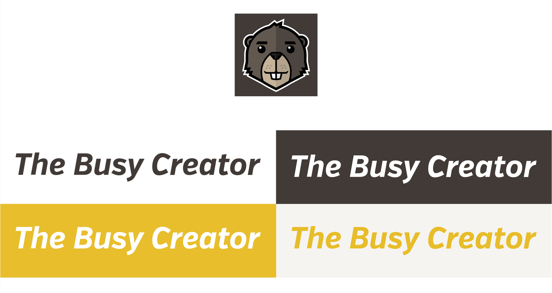 The Busy Creator logo system